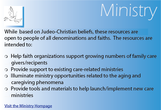 caregiving ministry, servant leadership, caregiving resources for the ministry, faith-based caregiving