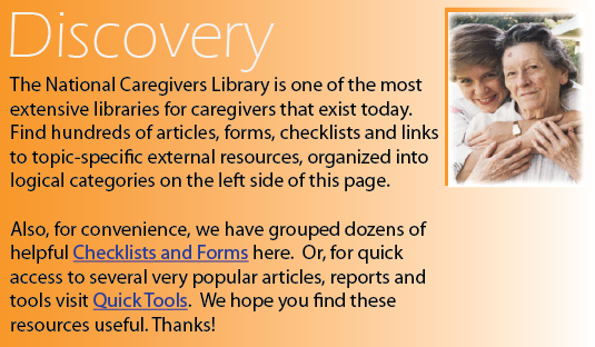 caregivers lists, articles, forms, checklists, tools, resources